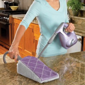 Shark Steamer cleaning kitchen